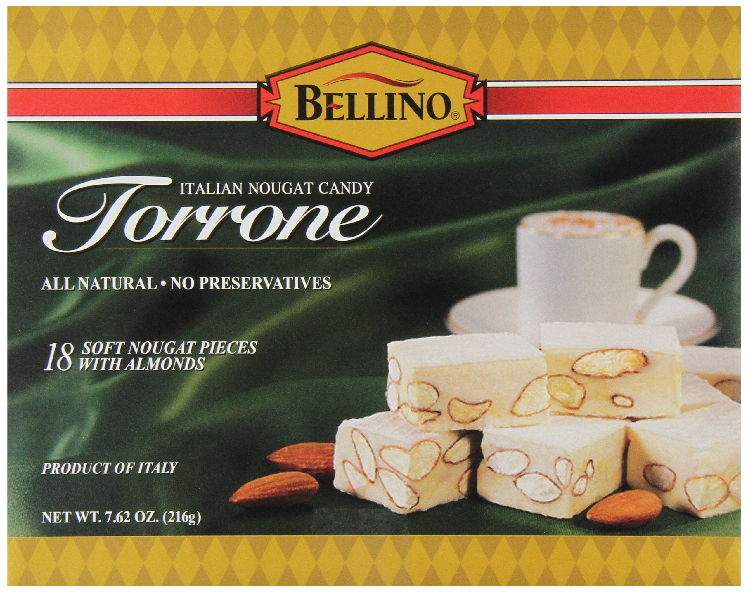Bellino Torrone Candy, 18 Count (Pack of 12)