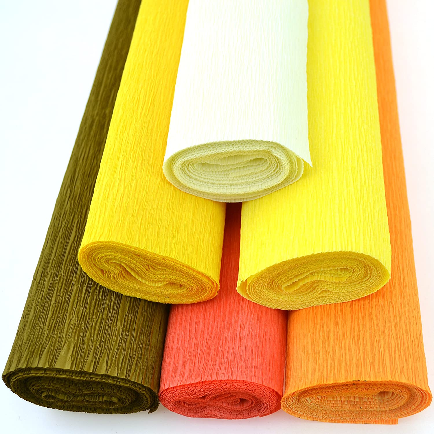 Orange Crepe Paper Roll 20 Inches Wide x 8ft Long