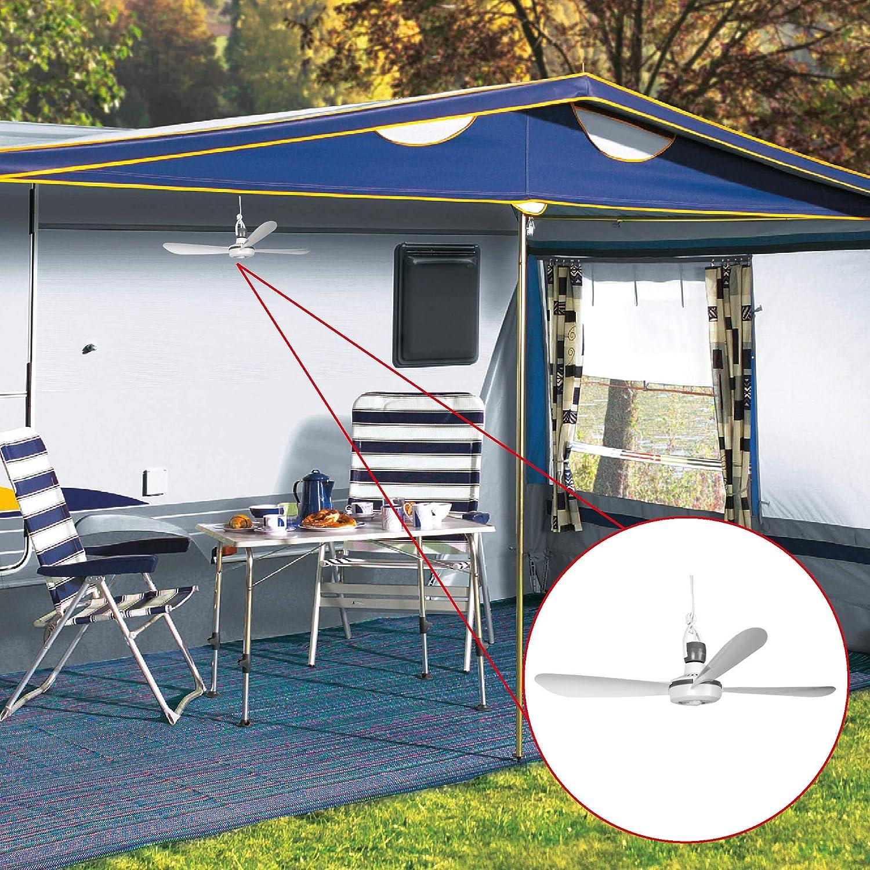 230V // 5 Watt Bestlivings Mobiler Deckenventilator Ventilator mit Aufh/änger und Schalter Energiesparend /Ø42 cm Portabler Decken