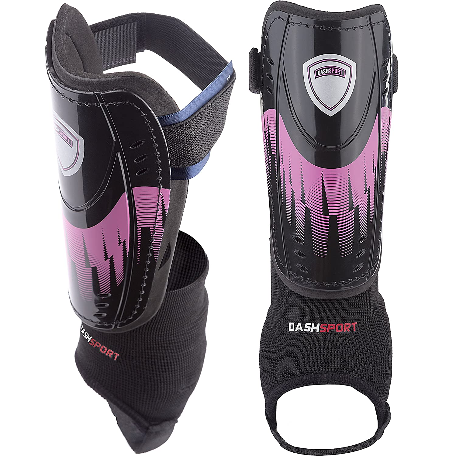 Soccer Shin Guards – ユースサイズ – by dashsport – Bestキッズ用サッカー機器with足首袖 – Great for Boys and Girls B01M7SFGDY X-Small 3'3 3'11|ピンク ピンク X-Small 3'3 3'11