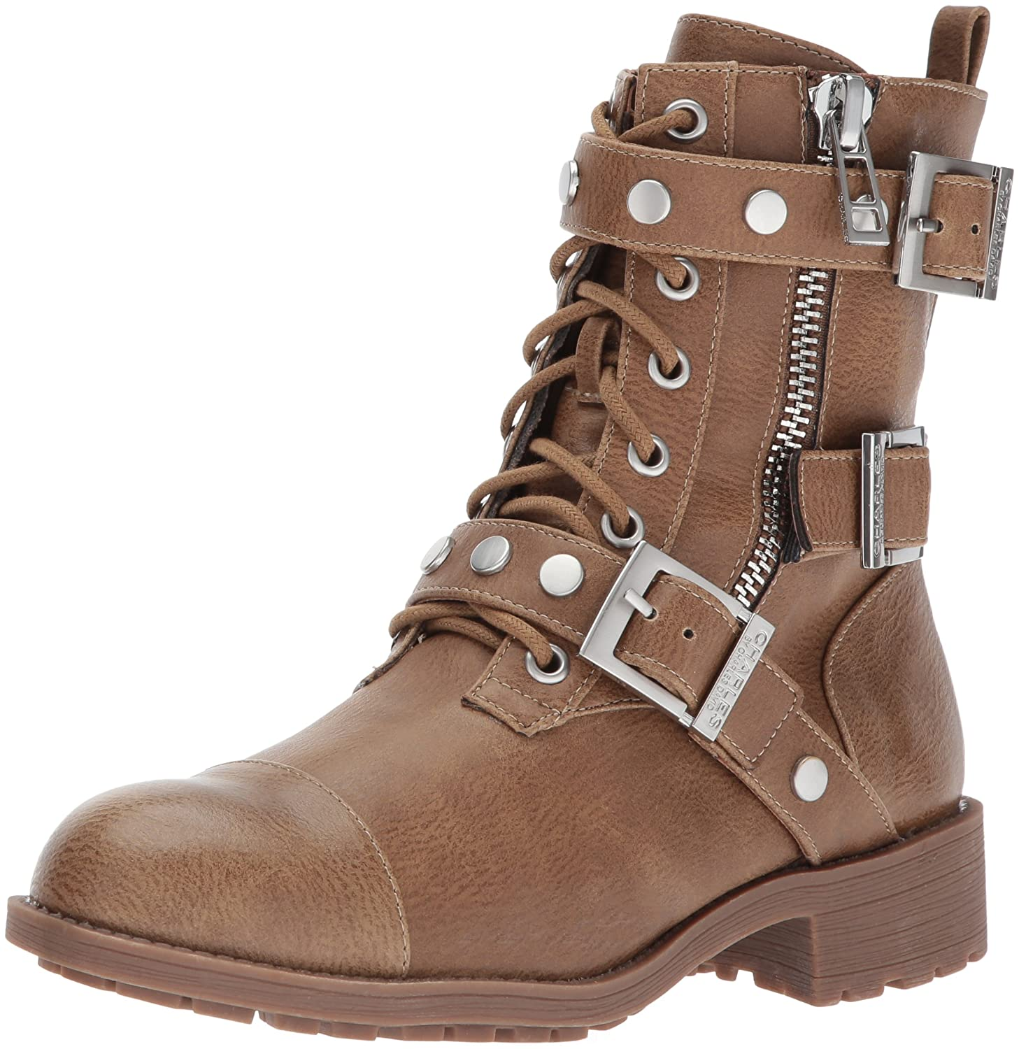 Charles by Charles David Women's Colt Motorcycle Boot B06XCXP6RN 5.5 B(M) US|Taupe