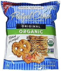 Snack Factory Pretzel Crisps, Original ORGANIC, 28 oz Bag