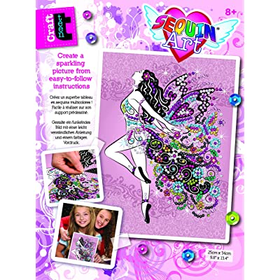 Sequin Art 1809 Fairy Craft Project from The Craft Teen Range 28 x 37 Centimetres: Toys & Games [5Bkhe0306339]