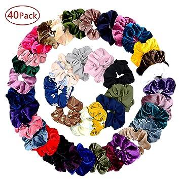 Women/'s 10 Chiffon Hair Scrunchies Elastic Hair Bands