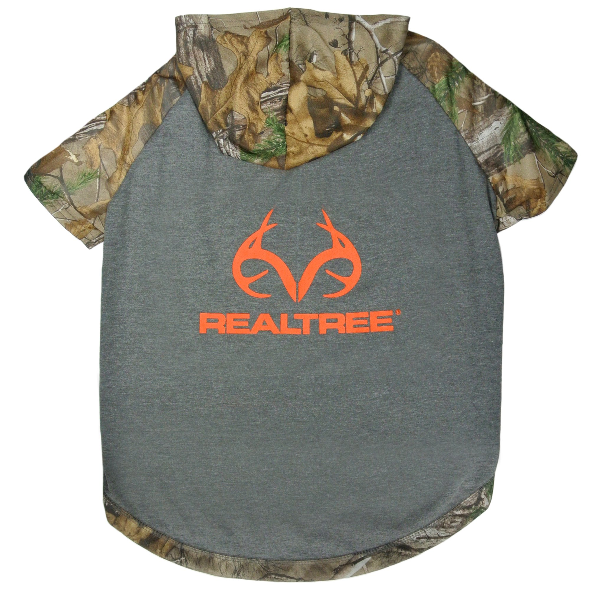 Pets First Realtree Camouflage Hunting Dog Hoodie Tee Shirt, X-Large