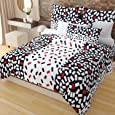 Home Candy 144 TC Cotton Double Bedsheet with 2 Pillow Covers - Multicolor