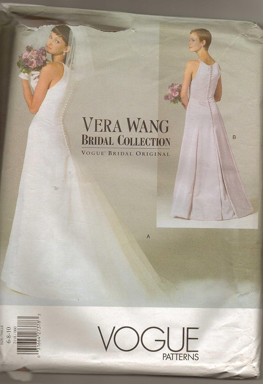 Amazon.com: Vogue 2118 Sewing Pattern, Misses\' Petite Wedding Dress ...