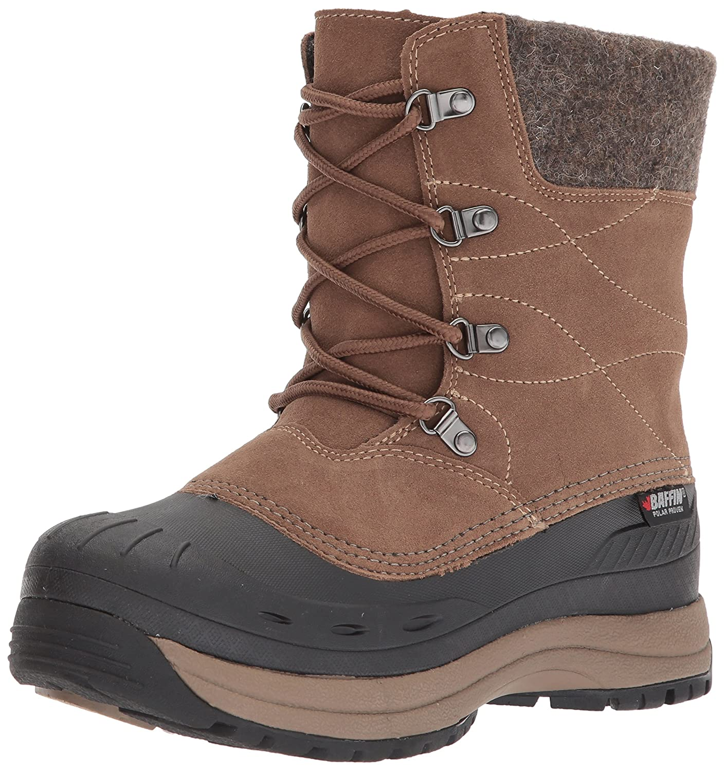 Baffin Women's Arnaq Snow Boots, Taupe, 10 M US Baffin Womens DRIFW021
