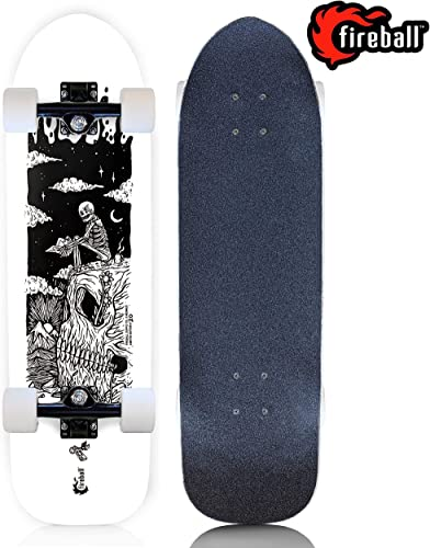 Fireball Mini Cruiser Longboard Skateboard Limited Edition Artist Collaboration Series Hybrid Cruiser 29.5 Deck Complete Multiple Graphic Styles Available