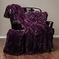 """Chanasya Super Soft Shaggy Longfur Throw Blanket - Snuggly Fuzzy Faux Fur Lightweight Warm Elegant Cozy Sherpa - for Couch Bed Chair Sofa Daybed - 50""""x 65"""" - (Machine Washable) - Solid Color"""