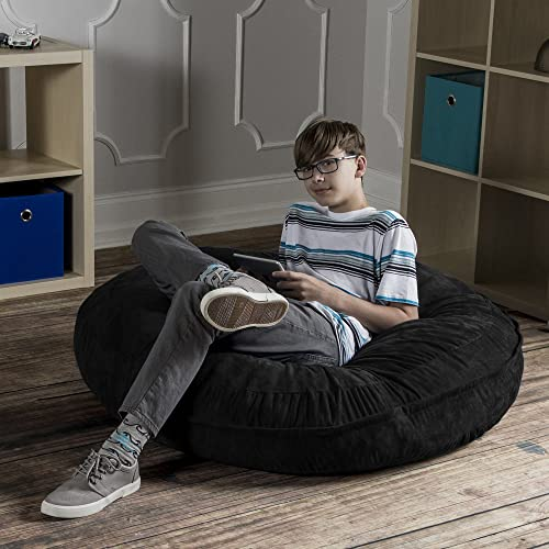 Jaxx 4 ft Cocoon Bean Bag Chair, Black