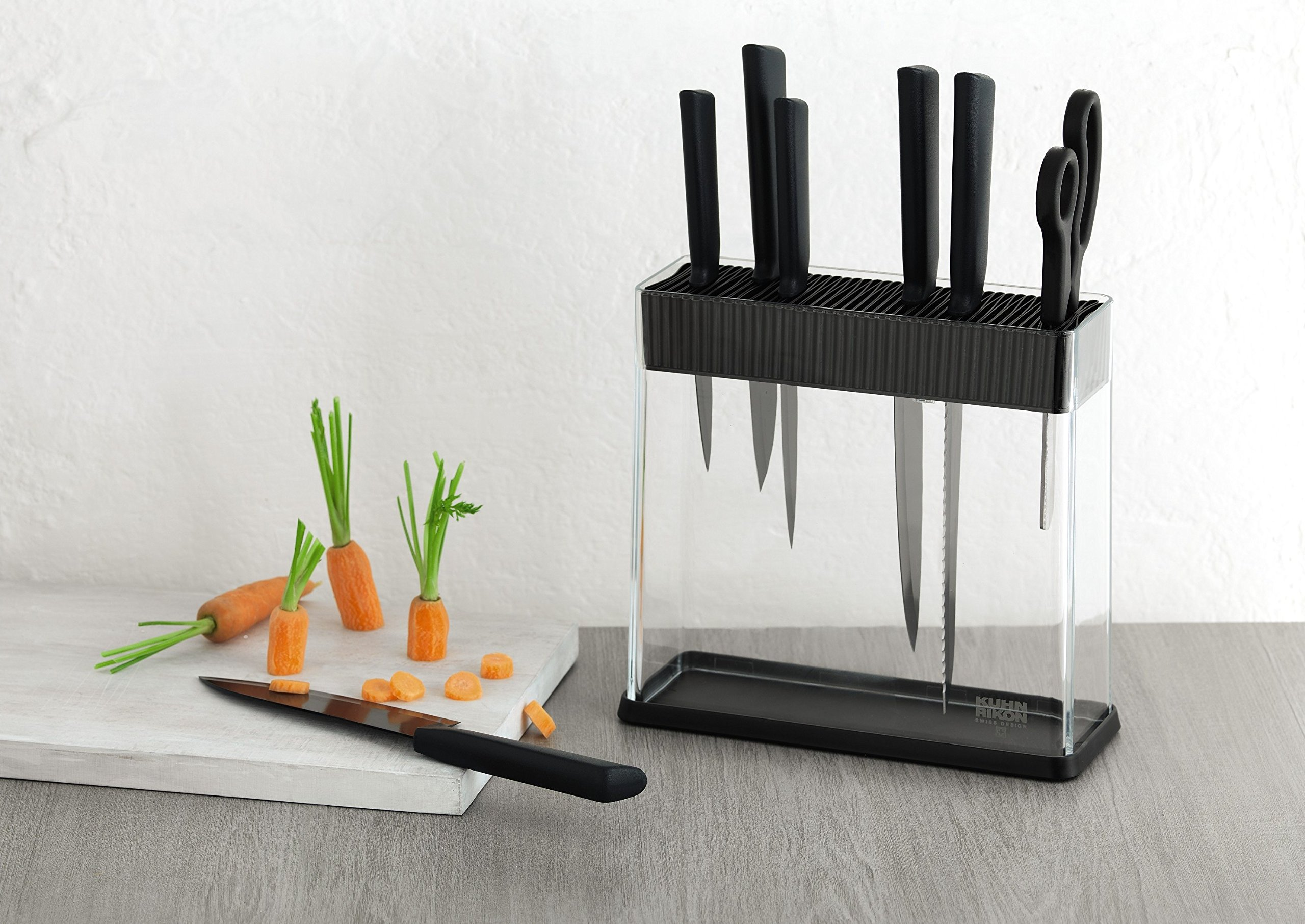 Kuhn Rikon Vision Clear Slotted Easy-to-Clean Knife Stand/Block, Rectangle by Kuhn Rikon (Image #3)