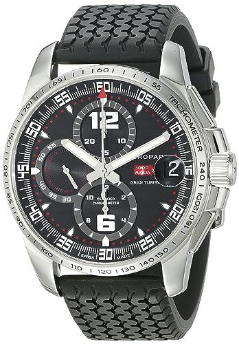 Chopard 168459-3001 - Reloj de pulsera hombre, caucho, color negro: Amazon.es: Relojes