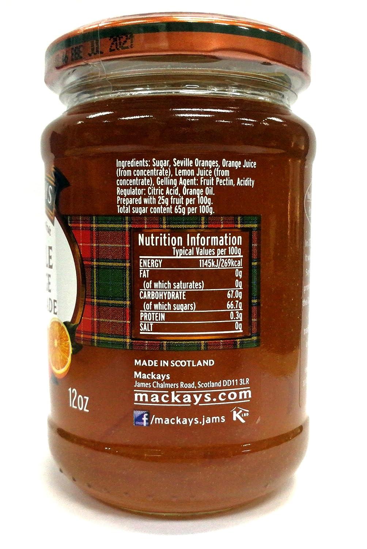 Tarro Marmalade De Naranja Amarga De Sevilla Mackays 340 Gr: Amazon.es: Alimentación y bebidas