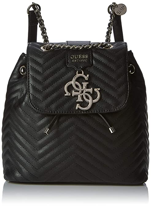 Guess - Violet Backpack, Mujer, Negro (Black), 25.5x25x14 cm (