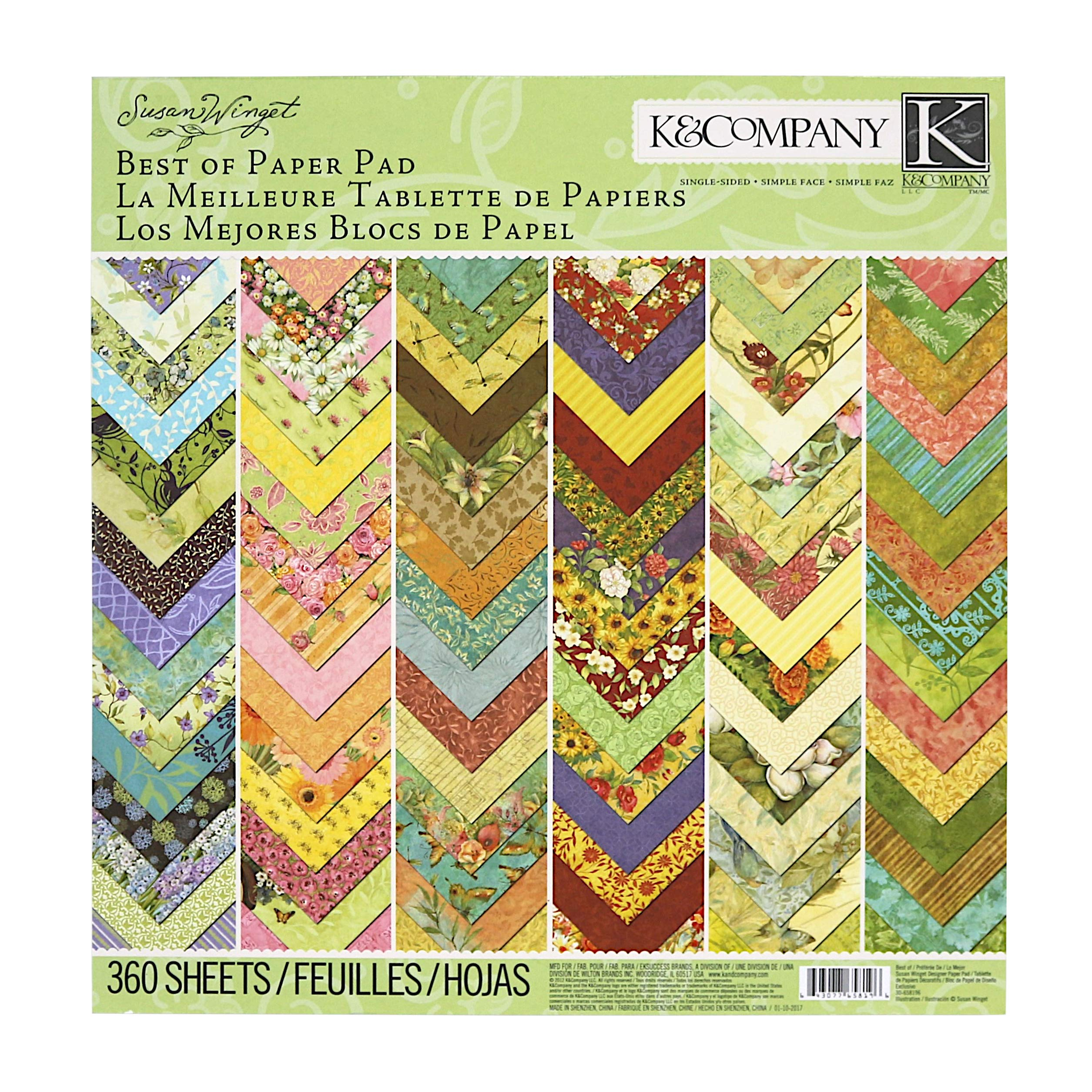 K&Company Best of Susan Winget 12'' x 12'' Specialty Paper Pad, 360 Sheets by K&Company