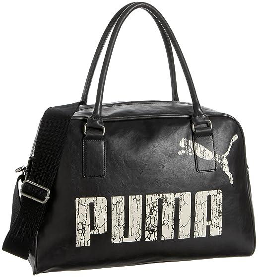 16910c3787463 Amazon.com: Puma Originals Grip Bag Satchel,Black/Black/Gardenia ...