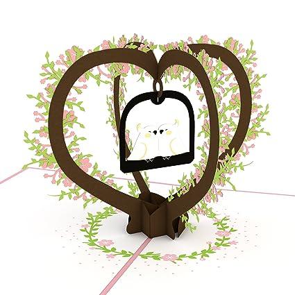 Amazon Com Lovepop Lovebirds Valentine S Day Pop Up Card Office