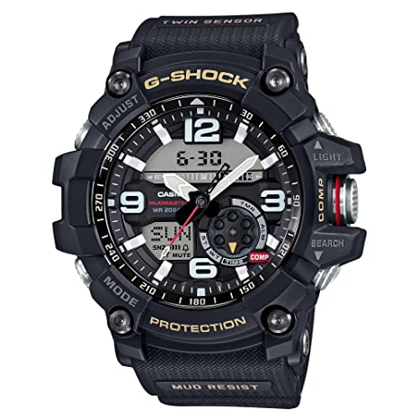 0bf1449e43 G-Shock Men s MudMaster Of G GG1000-1A Watch Black  Amazon.co.uk  Watches