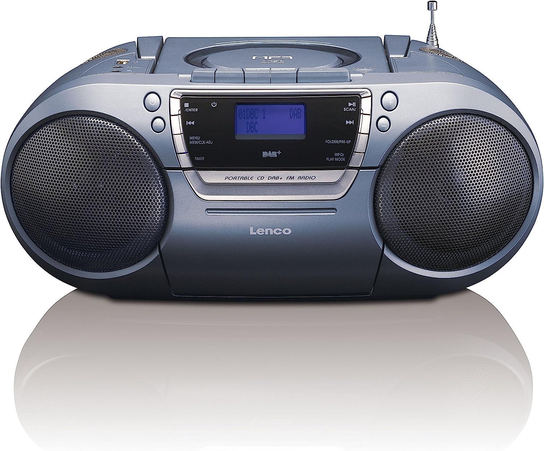 Lenco Dab Fm Tragbares Radio Scd 680 Mit Cd Mp3 Player Kassettenspieler Und Usb Anschluss Mp3 Pll Fm Radio Mit Rds Aux Eingang Kopfhörerbuchse Heimkino Tv Video