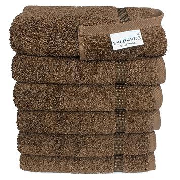 SALBAKOS Set de toallas de mano ecológicas de algodón turco para hotel y spa de lujo