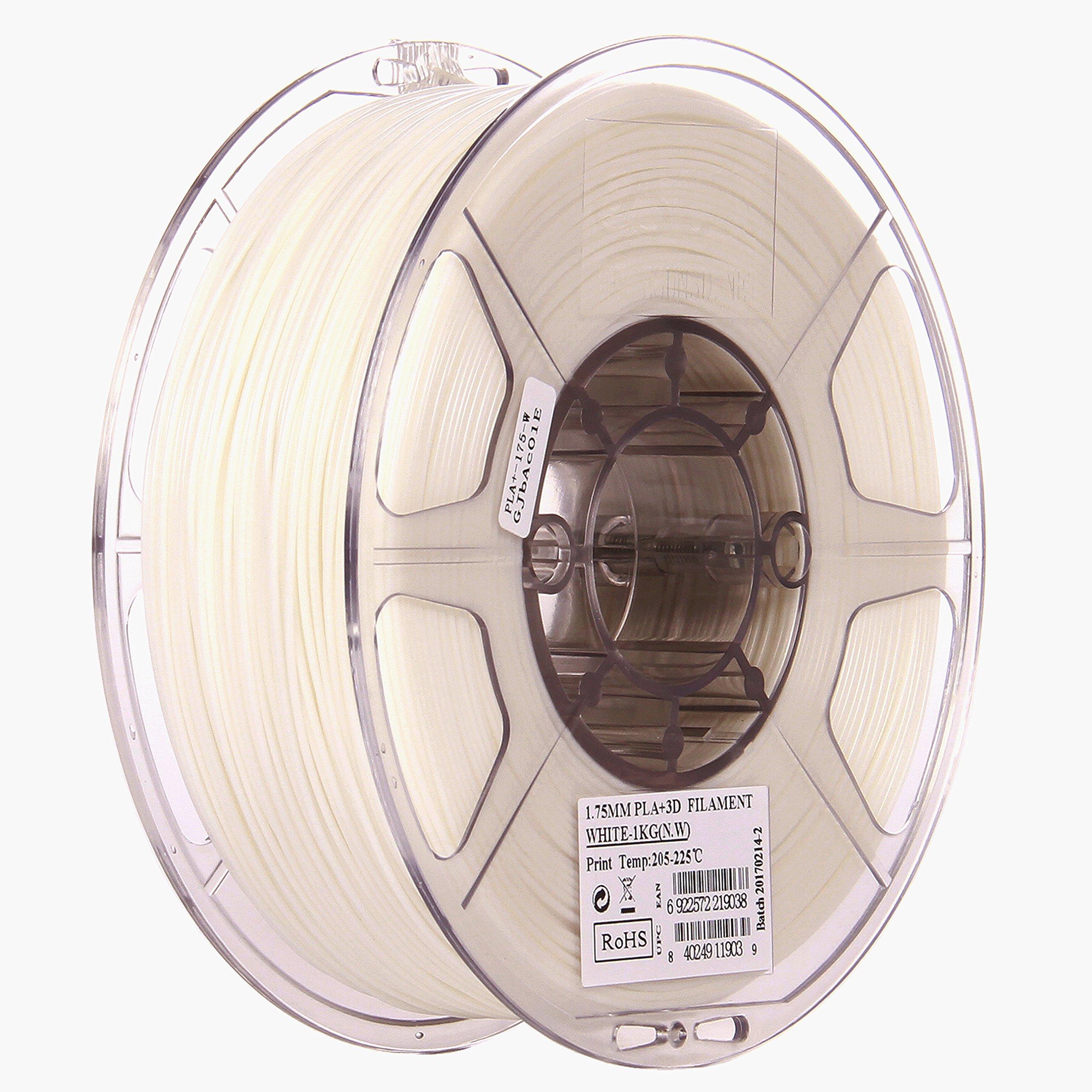 eSUN 1.75mm Warm White PLA PRO (PLA+) 3D Printer Filament 1KG Spool (2.2lbs), Warm White by eSUN