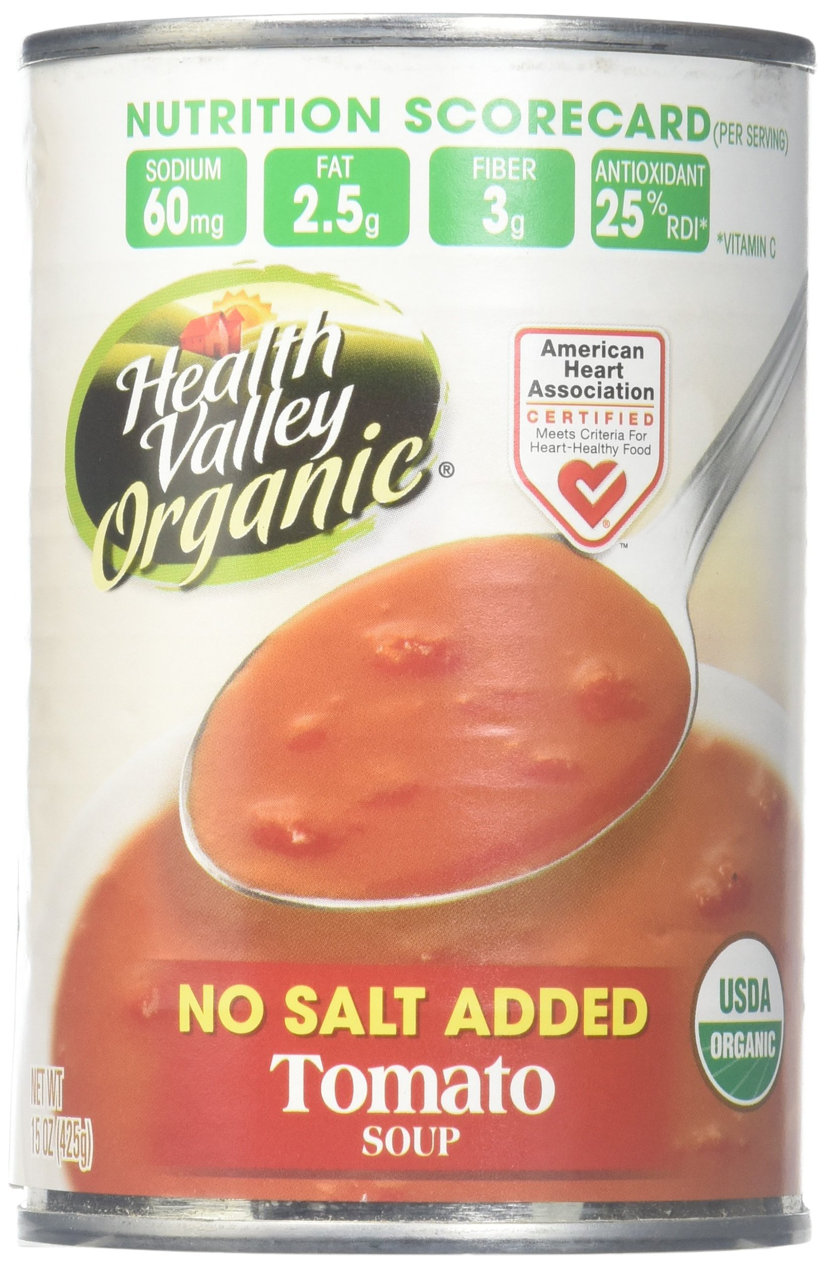 Health Valley Organic Tomato Soup, No Salt, 15 oz