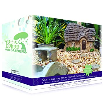 Deluxe Fairy Garden Starter Kit | Multi Piece, Durable, Hand Crafted  Collection