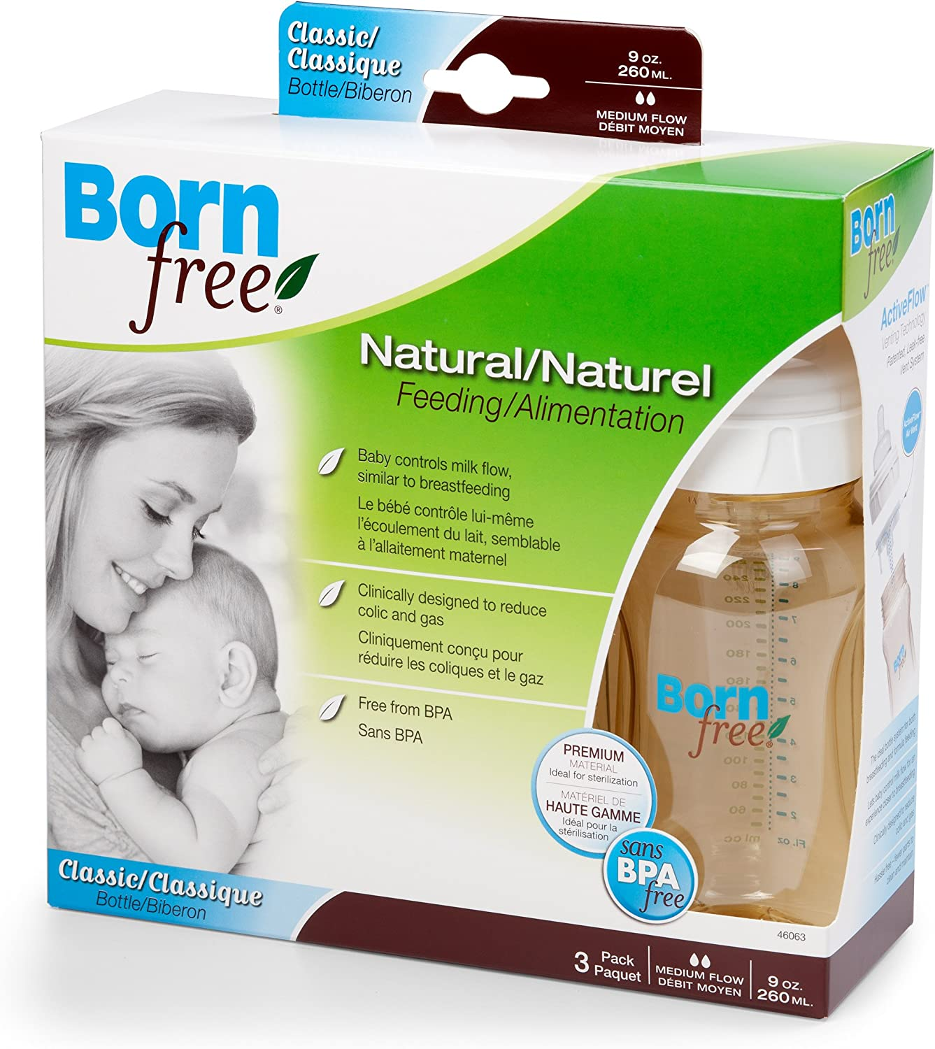 born free classic bottle 9 oz 3 pack