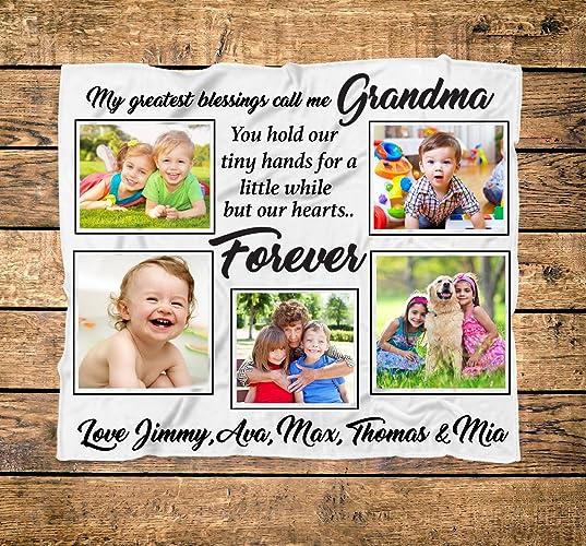 amazon com personalized grandma collage photo blanket custom mom