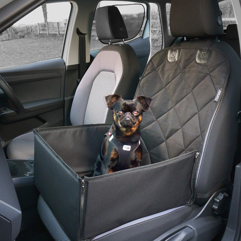 Ahuku Autositz Für Hunde Mit Sicherheitsgurt Und Robusten Gepolsterten Seiten Wasserdicht Für Kleine Bis Mittelgroße Hunde Und Welpen Haustier