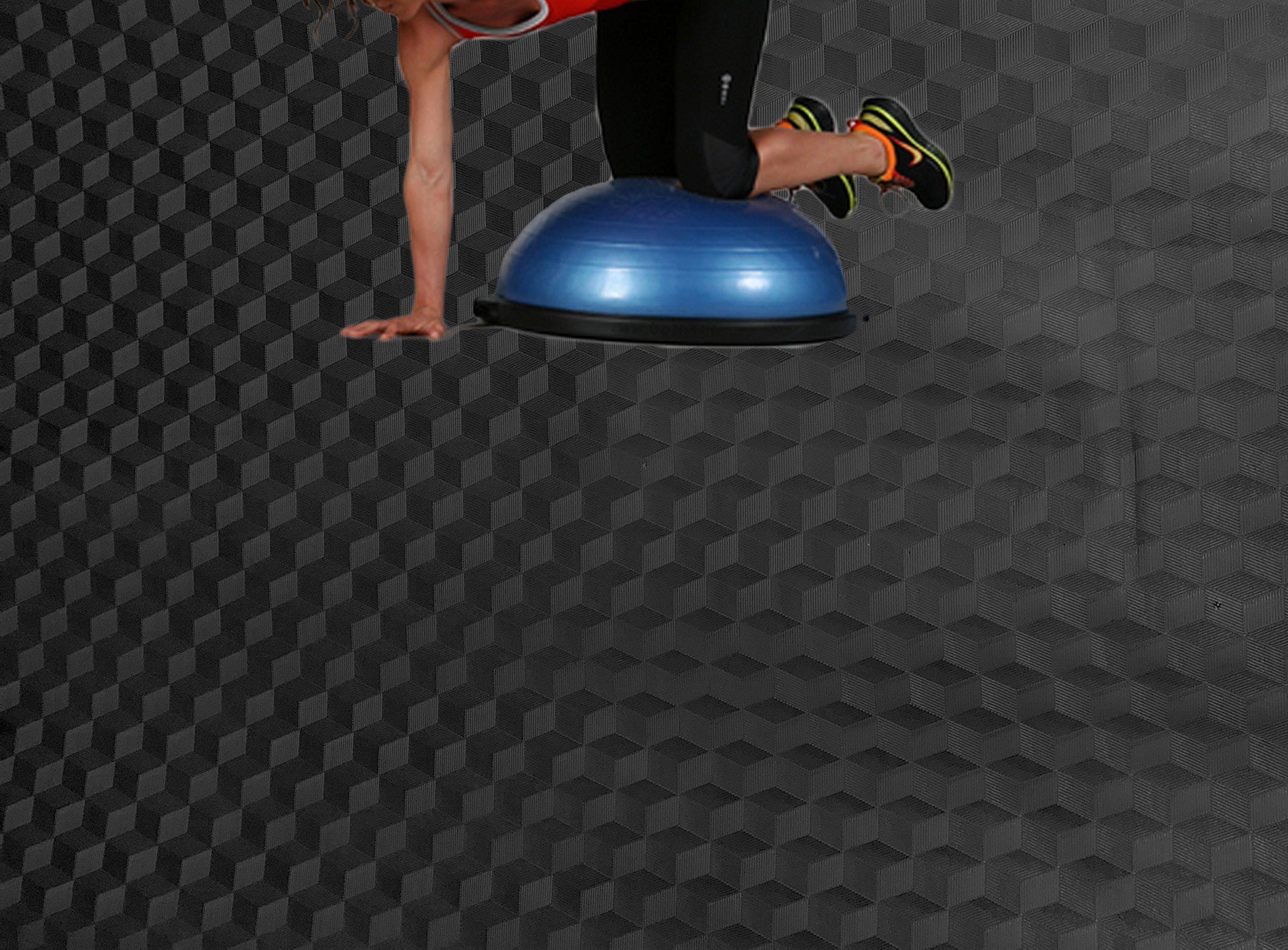 AMERIQUE 691322303360 Unique Metallic Vinyl Flooring, 2mm x 4' x 25' 100 sq. ft, Black Diamond, Square Feet