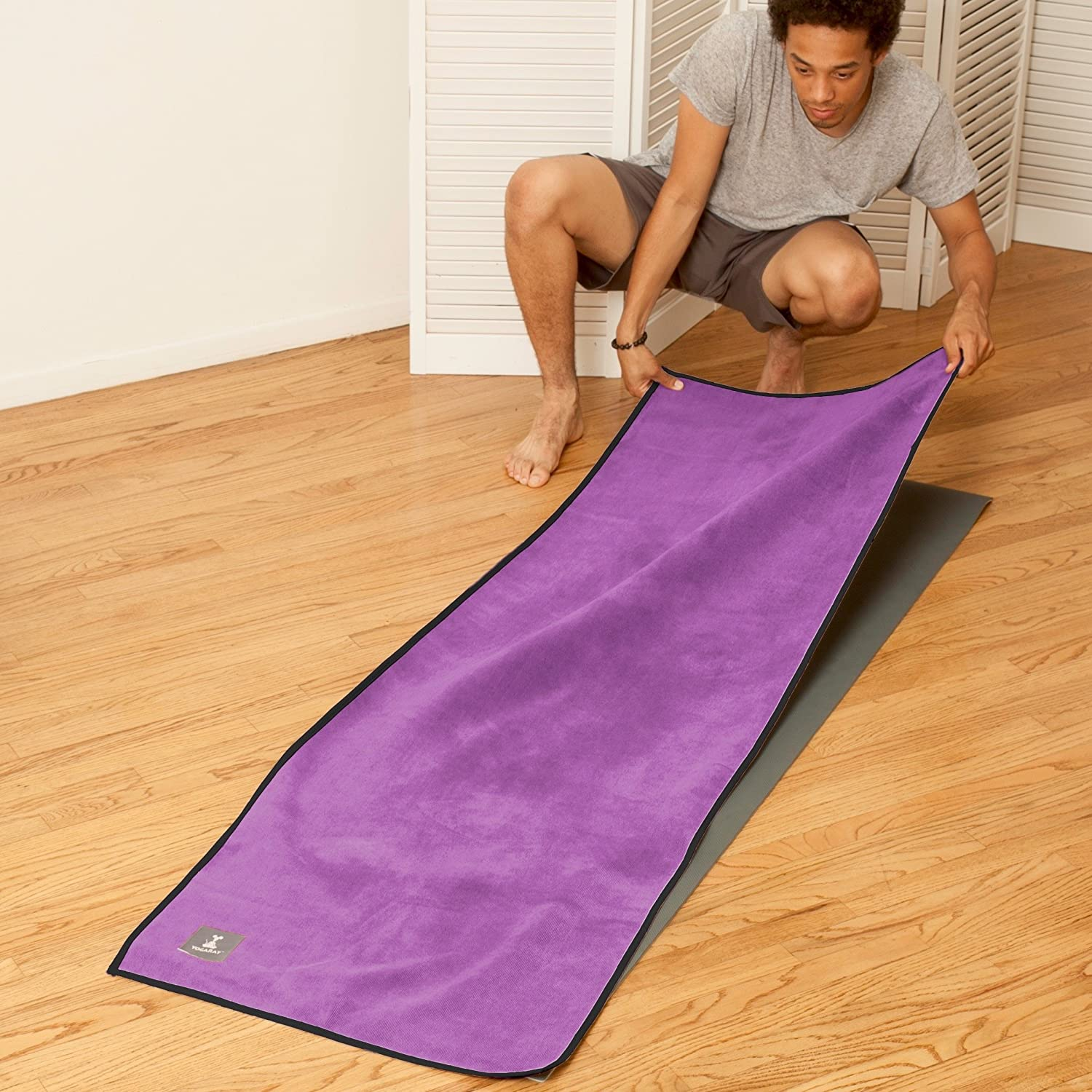 and a hand-size towel for better grip and moisture absorption to lay on top of your yoga mat YogaRat HOT YOGA TOWEL: 100/% durable 26x72, 25 x 72 or 24 x 68 thick Offered in multiple mat-length sizes super-absorbent microfiber 16 x 25, sold