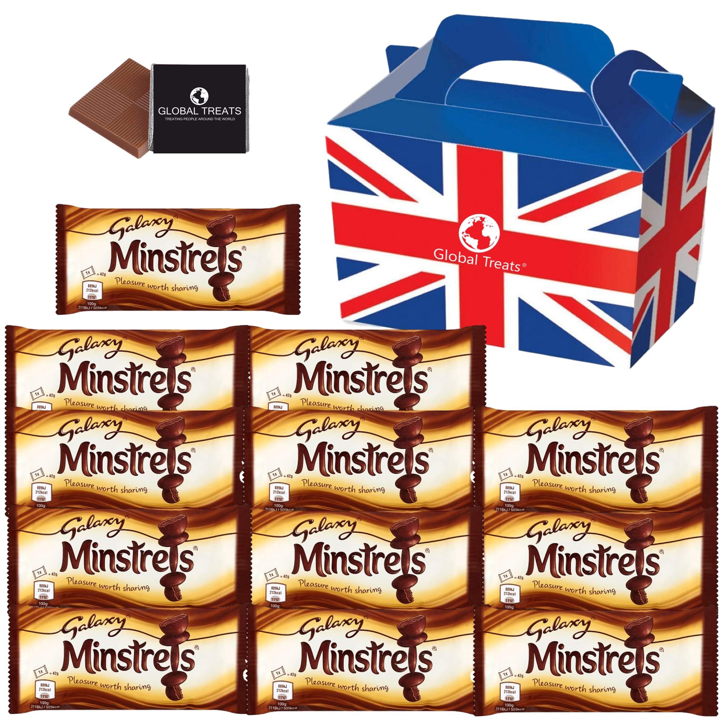 Minstrels - British Chocolate Candy Gift Box - Minstrels 42g x12 FULL SIZE Minstrels Chocolate Candy in a unique Gift Box and a free British Chocolate.