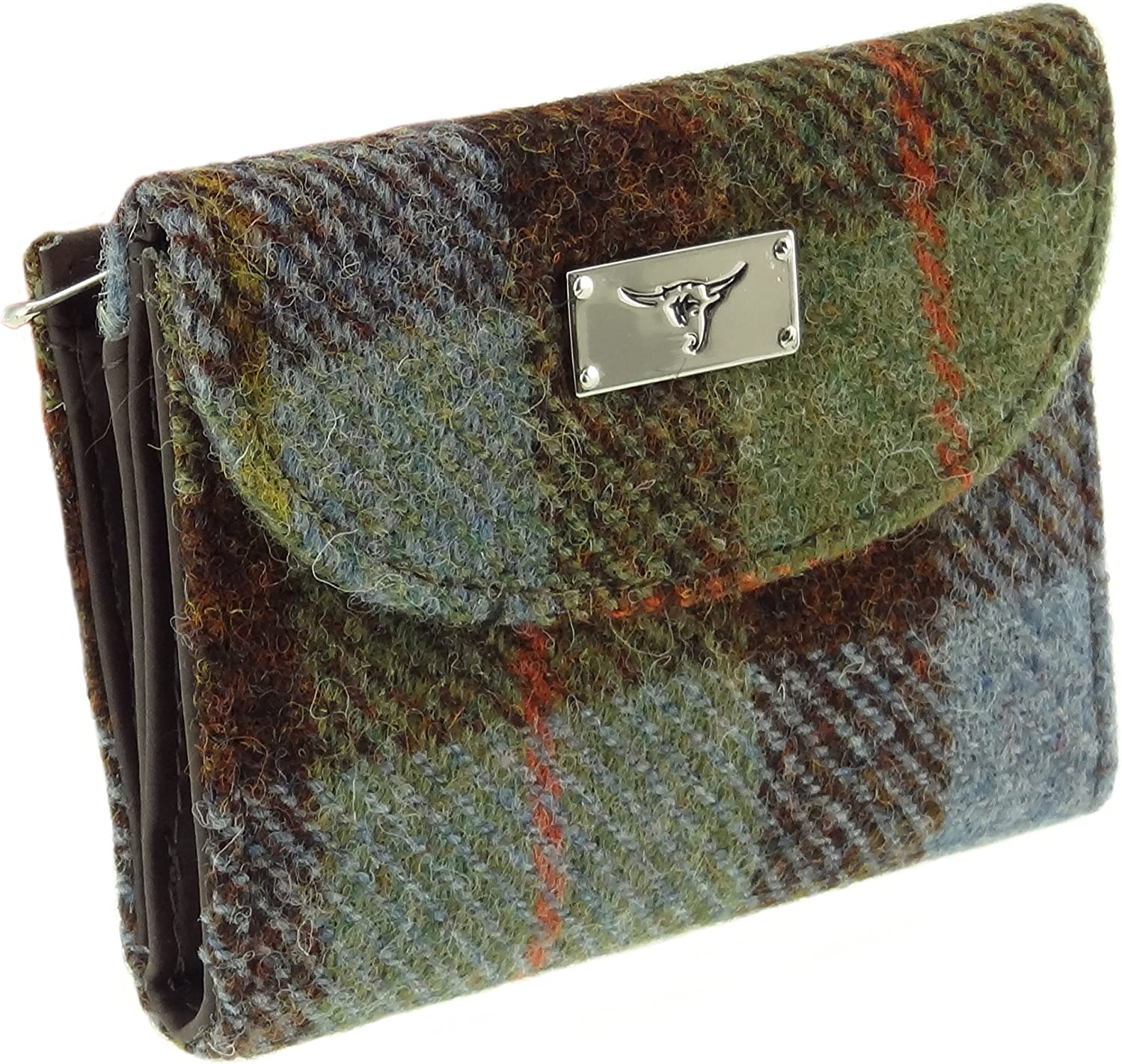 Women's Harris Tweed Short Wallet Purse Available In 10 Colours LB2002