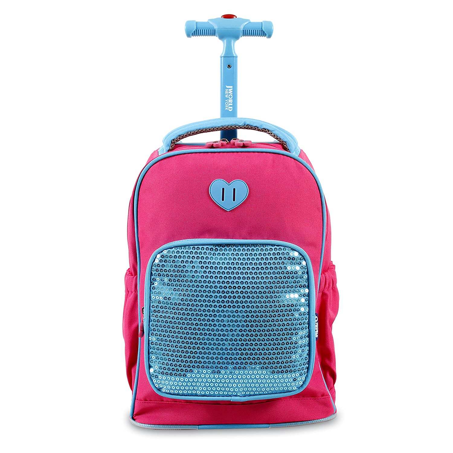 World new york sparkle kids rolling backpack pink kids backpacks jpg  1500x1500 Glitter rolling backpack 4886ecf0b7723