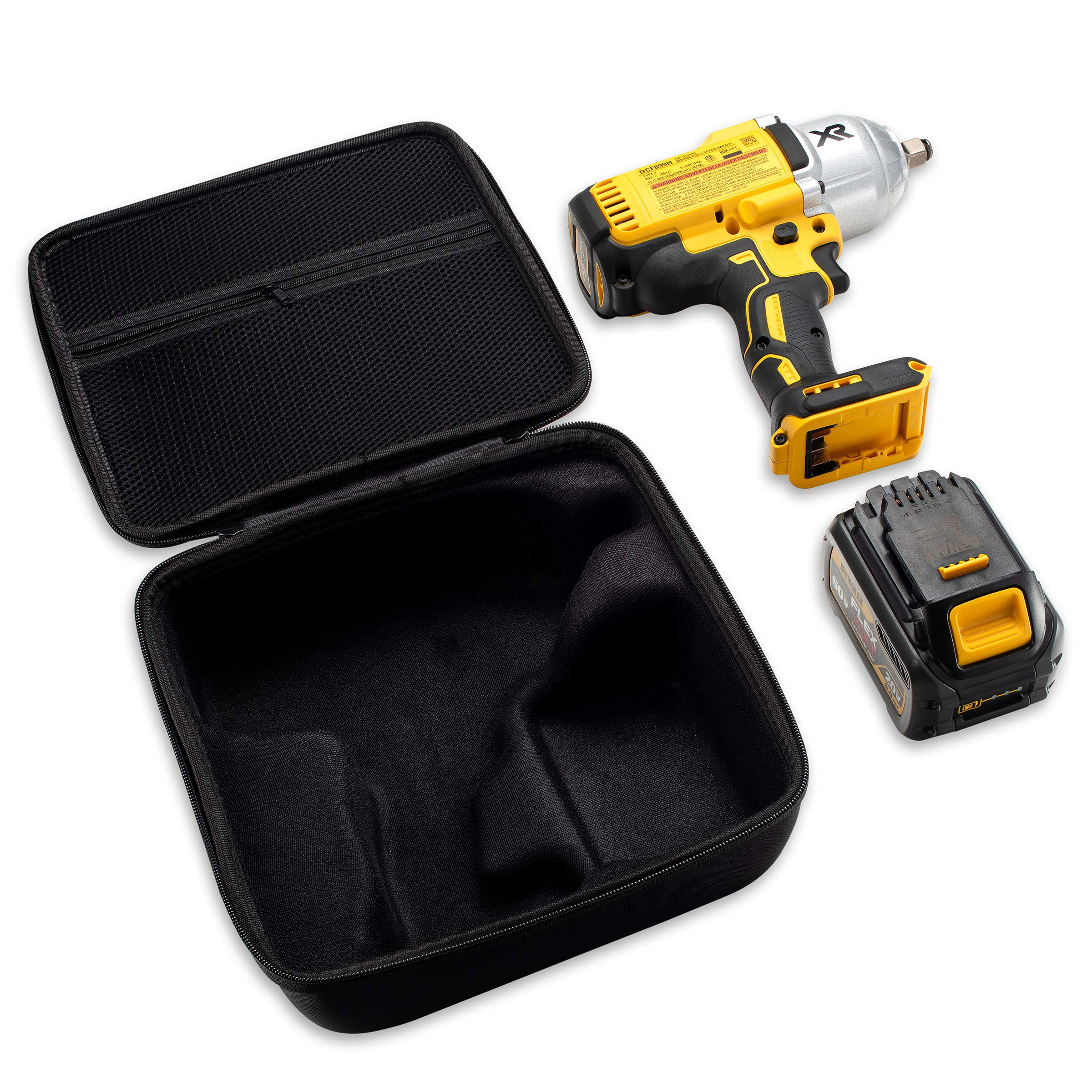 Caseling Hard Case Fits Dewalt DCF899HB / DCF899B 20V MAX XR Brushless High Torque 1/2'' Impact Wrench with Hog Ring Anvil & Battery Pack by caseling (Image #4)