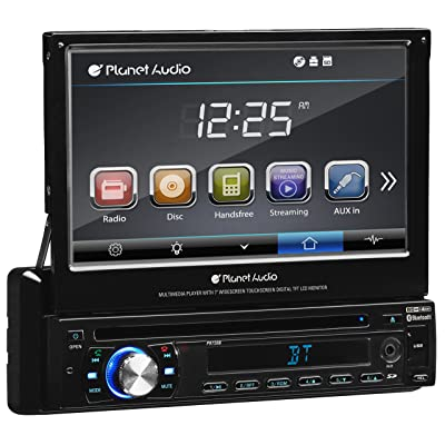 Planet Audio P9759B Single Din, Touchscreen, Bluetooth, DVD/CD/MP3/USB/SD AM/FM Car Stereo, 7 Inch Digital LCD Monitor, Detachable Front Panel, Wireless Remote: Car Electronics