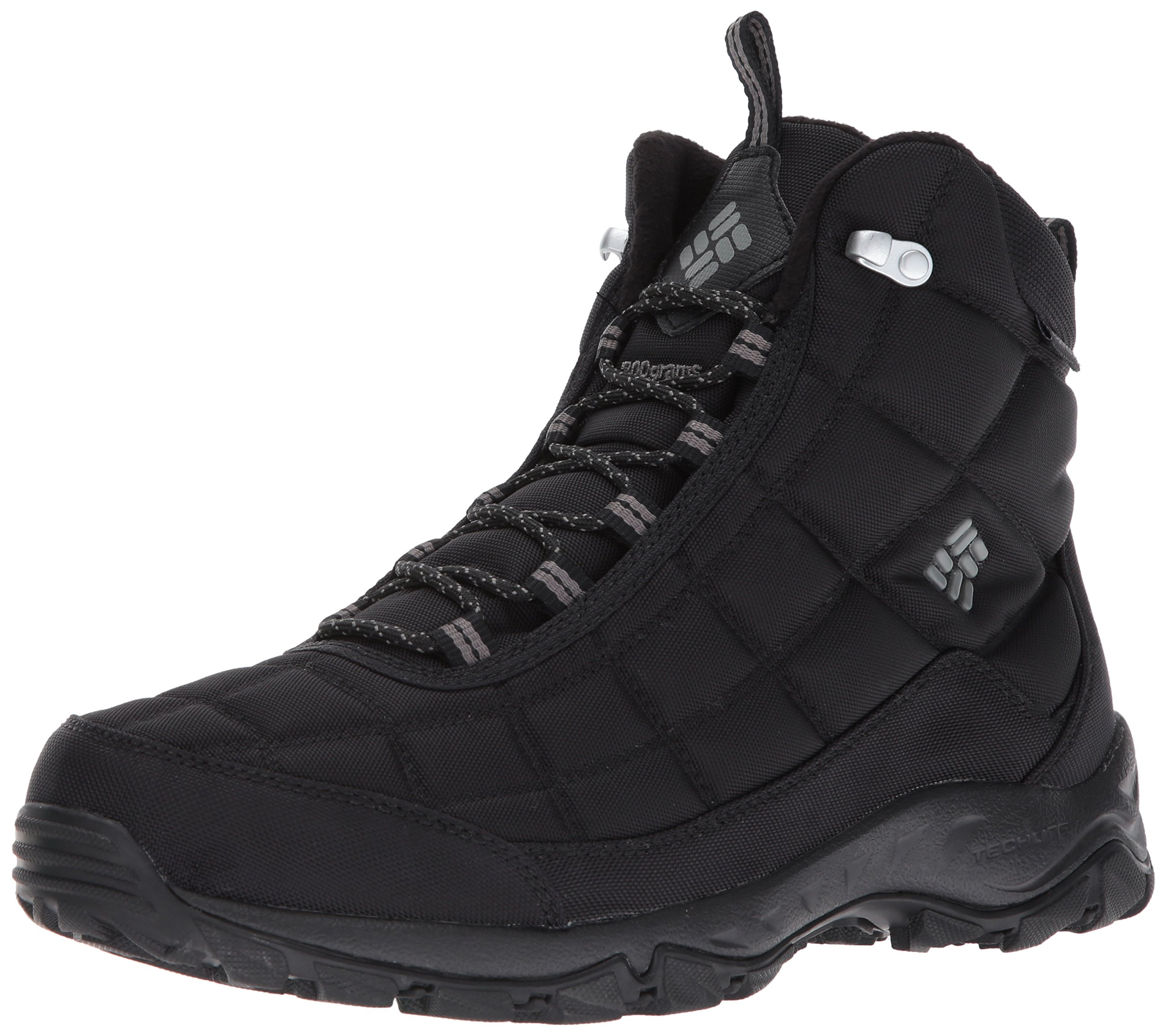 Columbia Men's Firecamp Boot Hiking Shoe, Black, City Grey, 9.5 D US by Columbia