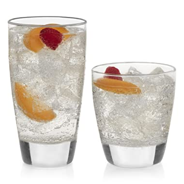 Libbey 31670 Classic 16-Piece Tumbler and Rocks Glass Set, 13 oz, Clear