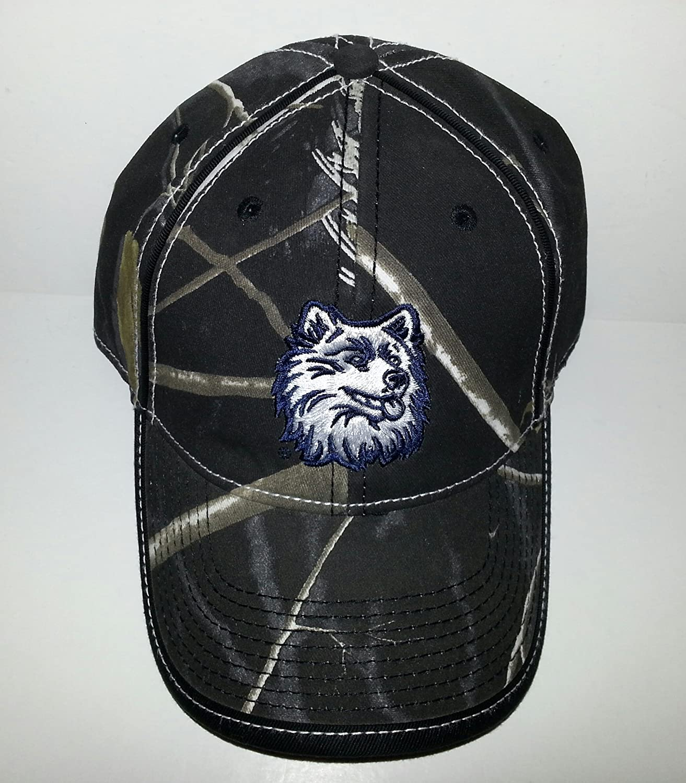 Uconn University of Connecticut Huskies調節可能なバックル帽子刺繍キャップ   B01E9PJR7I
