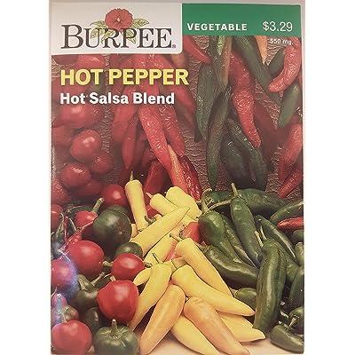 Burpee Pepper Hot Mix 100 Seeds per Packet : Vegetable Plants : Garden & Outdoor