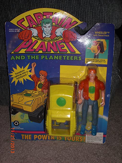 Wheeler With Tread Pack Action Figure. Toys & Hobbies Captain Planet