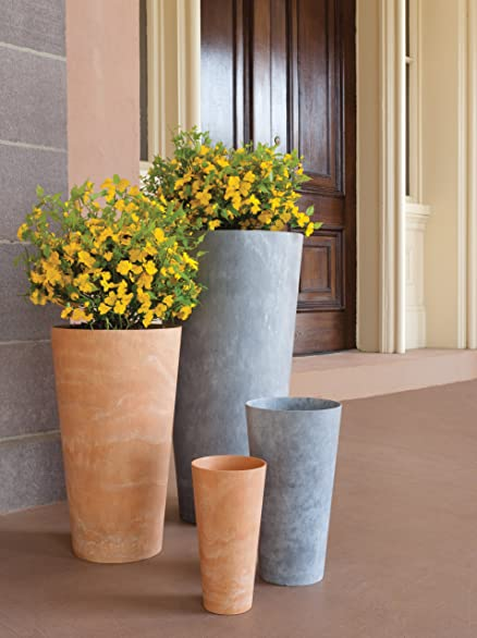 Amazon.com : Artstone Napa Tall Planter, Gray, 13.5 Inch : Tall Vase :  Garden U0026 Outdoor