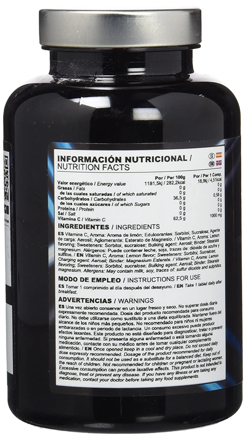 Big Man Nutrition Vitamin C 1000-60 Tabletas: Amazon.es: Salud y cuidado personal