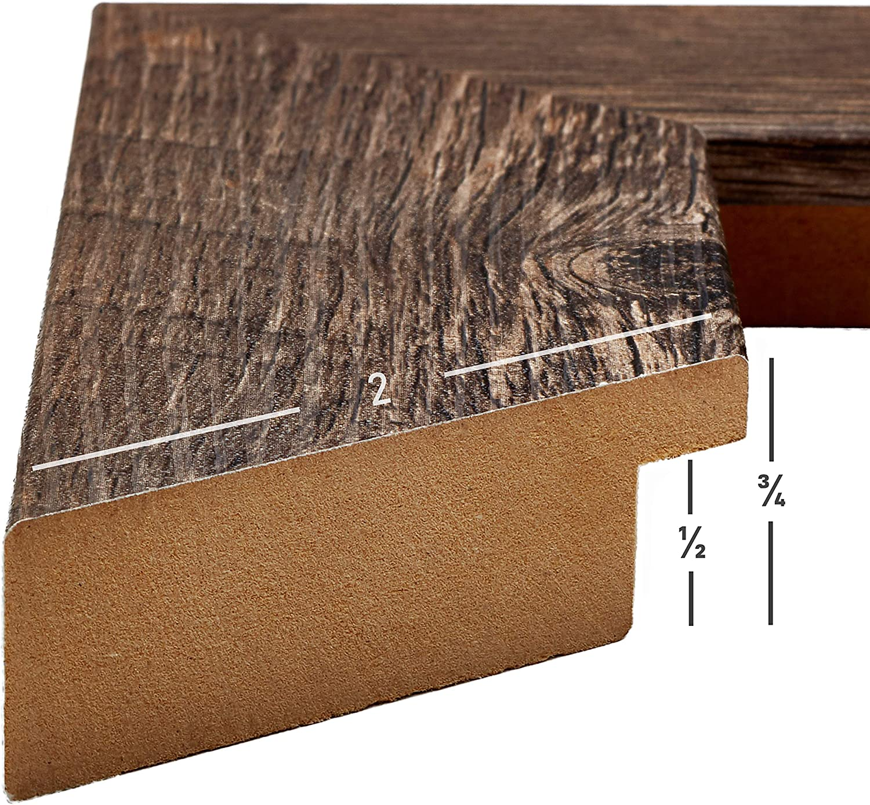 787099212030 Craig Frames Marshall Oak 20x30 Inch Dark Brown Solid Quartersawn Oak Wood Picture Frame 1.75