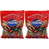 Arcor Juice Filled Strawberry Hard Kosher Candy 2 Packs,Each bag contains 470 Grams = Total 940 Grams (2.072lb)