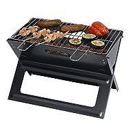 Banning Holzkohlegrill Tepro klein schwarz Camping Balkon Picknick ✔ eckig ✔ tragbar ✔ Grillen mit Holzkohle