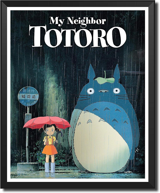 Yansang Anime My Neighbor Totoro Mei Kusakabe Satsuki Kusakabe Bathroom Decor Wall Decor Home Decor Canvas Print Poster,Unframed,8 x 10 Inches,Set of 1 Piece(Small Size)