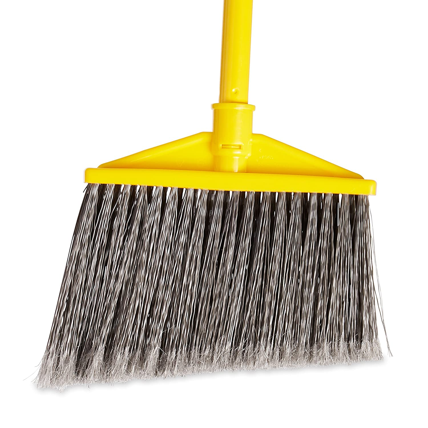Rubbermaid Commercial Products FG637500GRAY Angled Large Broom with Polypropylene Bristles